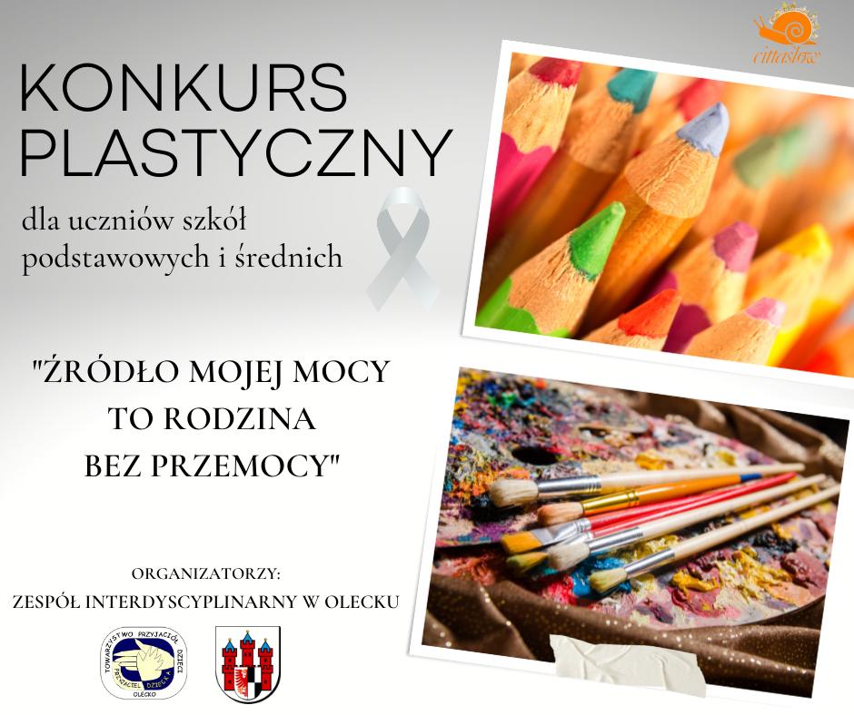 """Plakat """"Źródło mojej mocy – RODZINA BEZ PRZEMOCY"""" - konkurs plastyczny dla uczniów szkół podstawowych i średnich"""