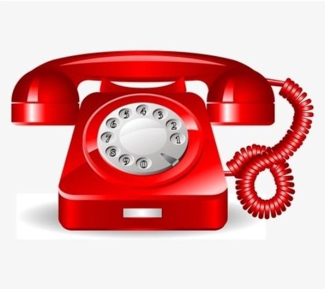 Obrazek z starodawnym czerwonym telefonem na tarczę